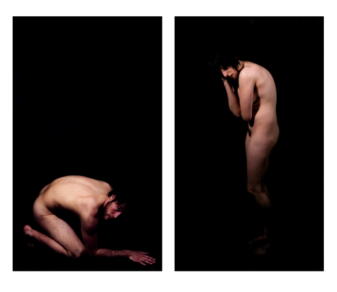 diptych of two nudes