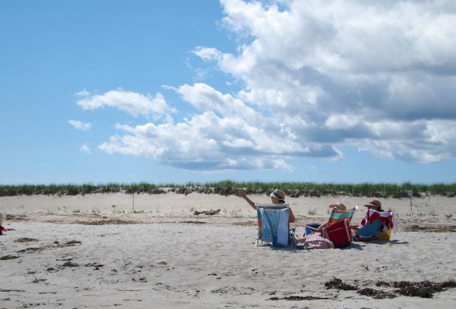 Beach-goers