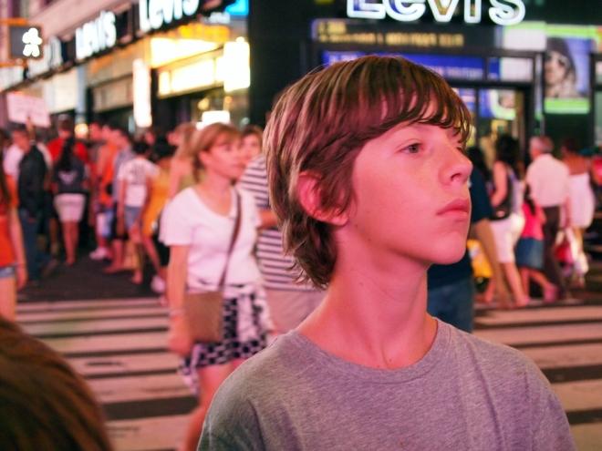 Portrait in Times Square