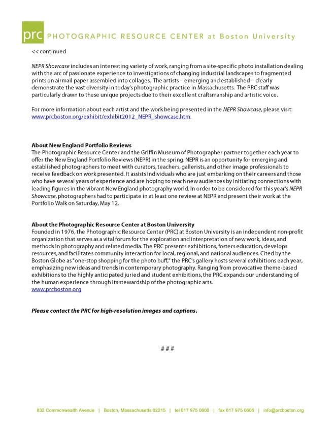 NEPR Showcase Press Release - Page 2